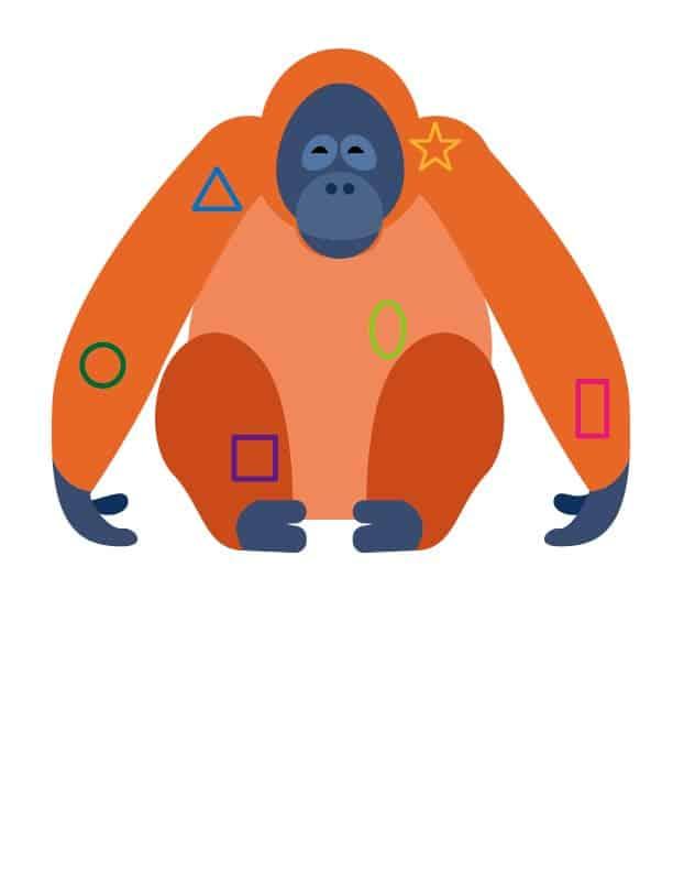 大猩猩 OK繃向量圖