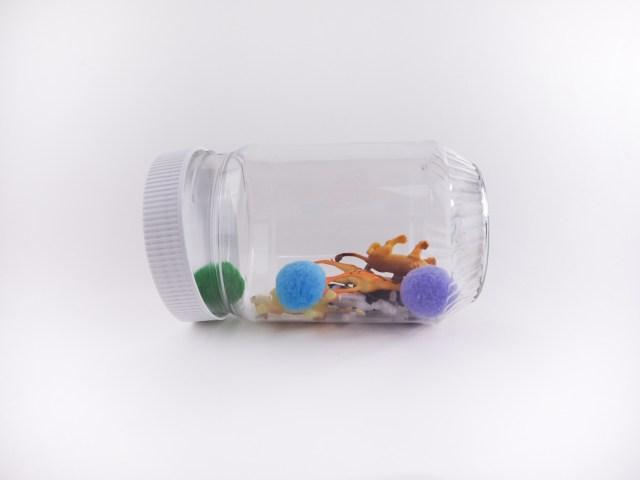 DIY 動物捉迷藏罐 空罐和小物 Animal Hunting Bottle