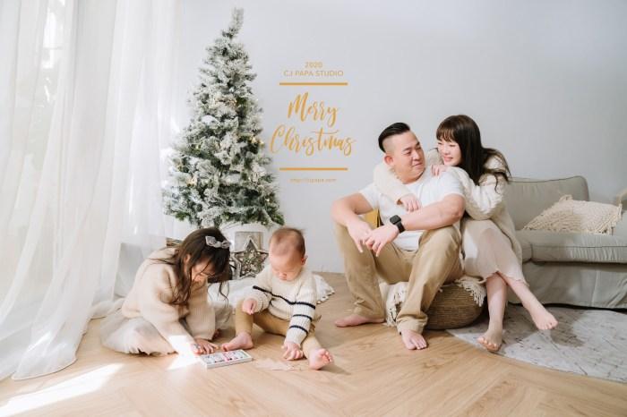 讓孩子在玩樂中拍攝  幸福又溫馨的聖誕全家福寫真-CJ PAPA 西街阿爸