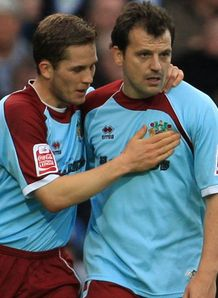 Joey Gudjonsson Robbie Blake celeb QPR v Burnley