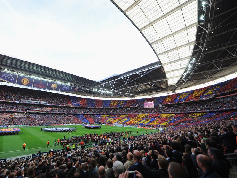 wembley stadium before the 2011 champions league final