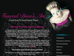 Screengrab from FuneralDivas.com.
