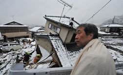 Kamaishi, Iwate after devastating earthquake. Click image to expand.