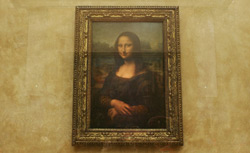 The famous Leonardo Da Vinci painting ' The Mona Lisa.' Click image to expand.