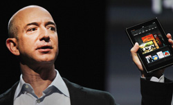 Jeff Bezos introduces the Kindle Fire, Amazon's entry into the tablet market