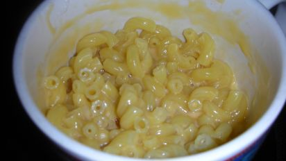 microwave macaroni and cheese for one
