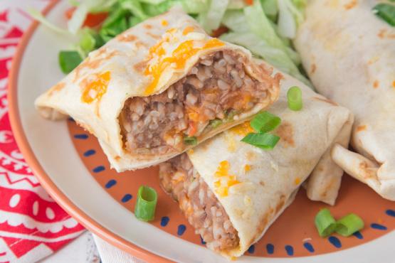 Refried Bean Burritos Recipe Genius Kitchen