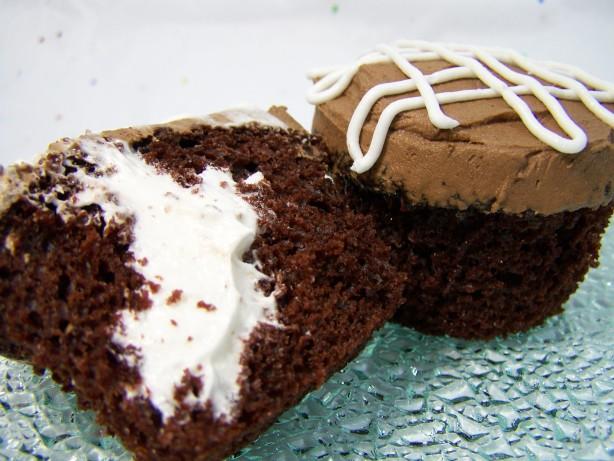 Surprise! Cream-Filled Cupcakes Recipe