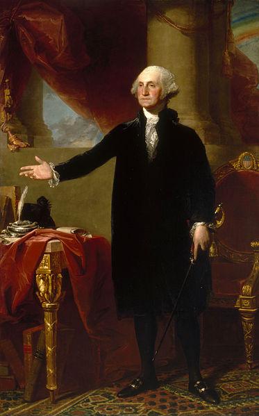 華盛頓表態拒絕第三屆任期時的情景 (吉爾伯特·斯圖爾特手繪/Wikimedia Commons)