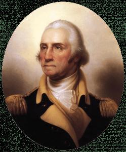 懸掛于白宮內的華盛頓官方肖像 (Wikimedia Commons)