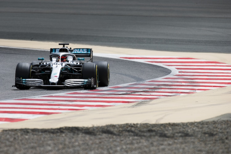 george russell im mercedes
