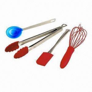 Kid Silicone Kitchen Utensils Spatula Spoon Rolling Pin Bowl