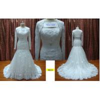 Trumpet Strapless With Long Sleeves Jacket Lace Wedding