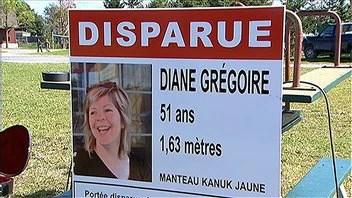 Affiche sur la disparition de Diane Grégoire.