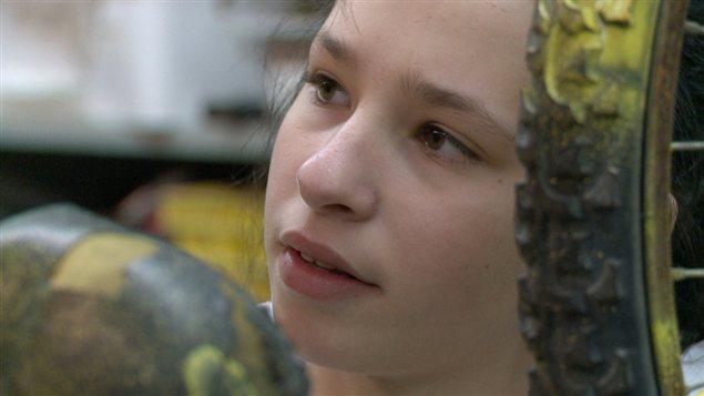 Alexie Poirier, l'une des 40 élèves qui participent au projet à Joliette