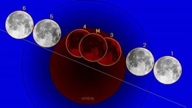 Les phases d'une éclipse