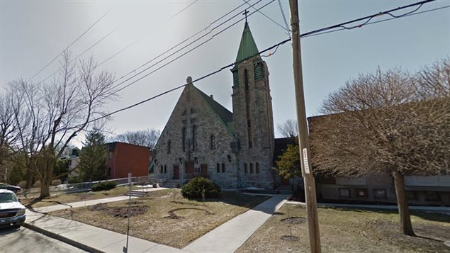 Eglise Catholique on Lorne Ave in St Lambert. An Anglican church is also located on the street.  New municipal rules would limit space for new religous buildings and activities to existing spots. Another relgion could either buy a church or rent space in one says the mayor.