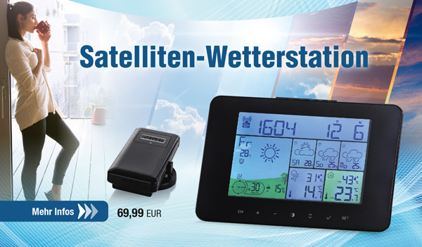 Satelliten-Wetterstation