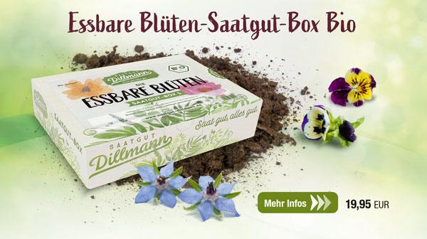 Die Essbare Blüten-Saatgut-Box Bio