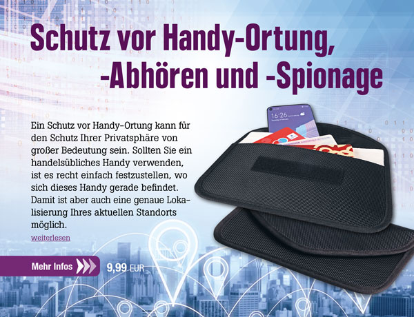 Anti-Tracking Handyhülle