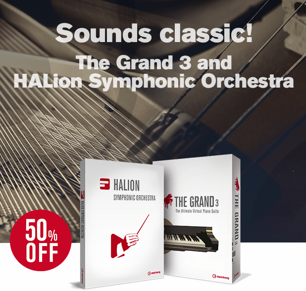 Time-limited offer: The Grand 3 and HALion Symphonic Orchestra at 50% off!