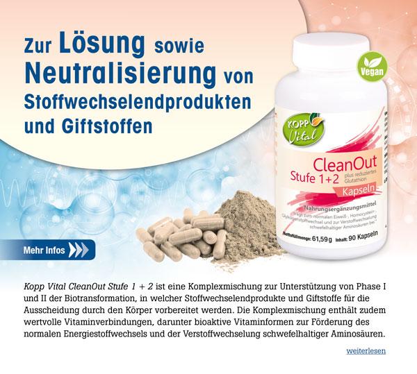 Kopp Vital CleanOut Stufe 1 + 2 plus reduziertes Glutathion Kapseln