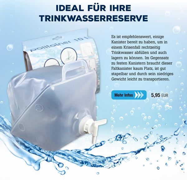 Faltbarer Wasserkanister - 10 Liter