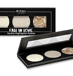"Rival de Loop ""Fall in Love"" Marble-Highlighter Palette"