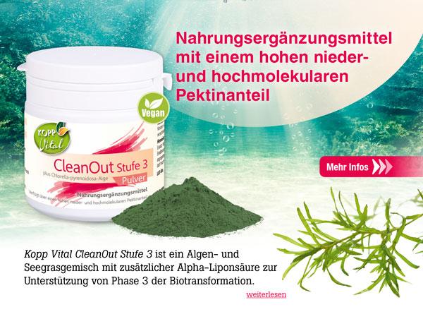 Kopp Vital CleanOut Stufe 3 plus Chlorella-pyrenoidosa-Alge Pulver