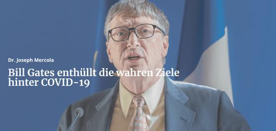 Bill Gates enthüllt die wahren Ziele hinter COVID-19