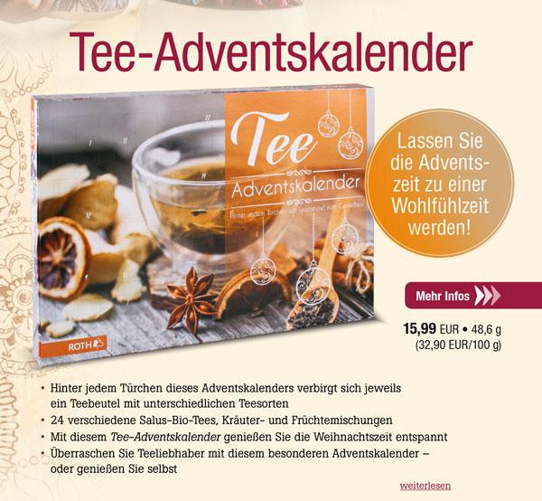 Tee-Adventskalender - 24 Teebeutel der Marke Salus