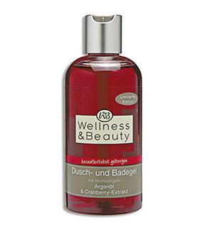 Wellness & Beauty Dusch- und Badegel Arganöl & Cranberry-Extrakt