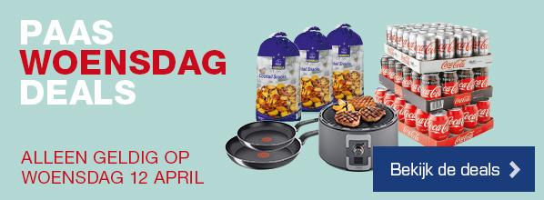 Paas Woensdag Deals - Alleen geldig op woensdag 12 april   Bekijk de deals >