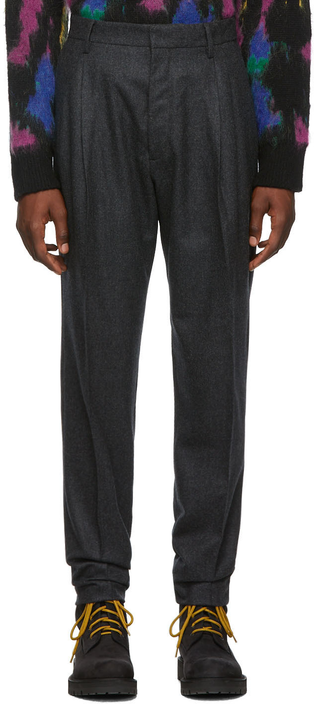 Dsquared2 Grey Wool Trousers