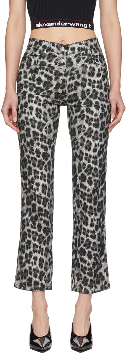 Miaou Grey Leopard Junior Trousers