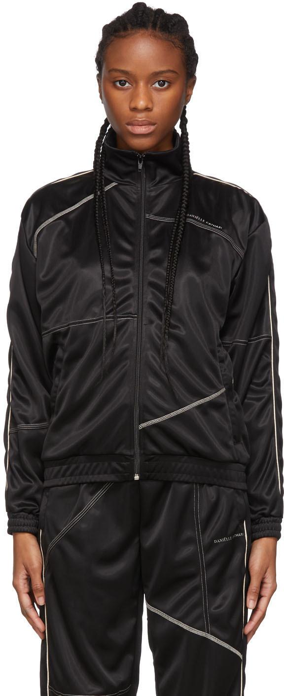 Daniëlle Cathari Black Deconstructed Track Jacket