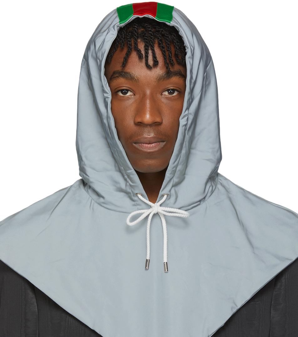 Gucci Silver Reflective Hood