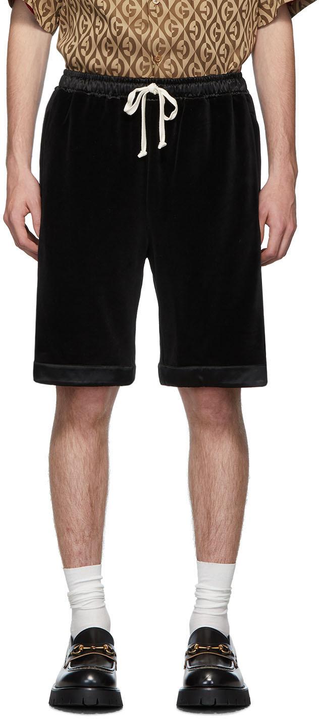 Gucci Black Chenille Shorts