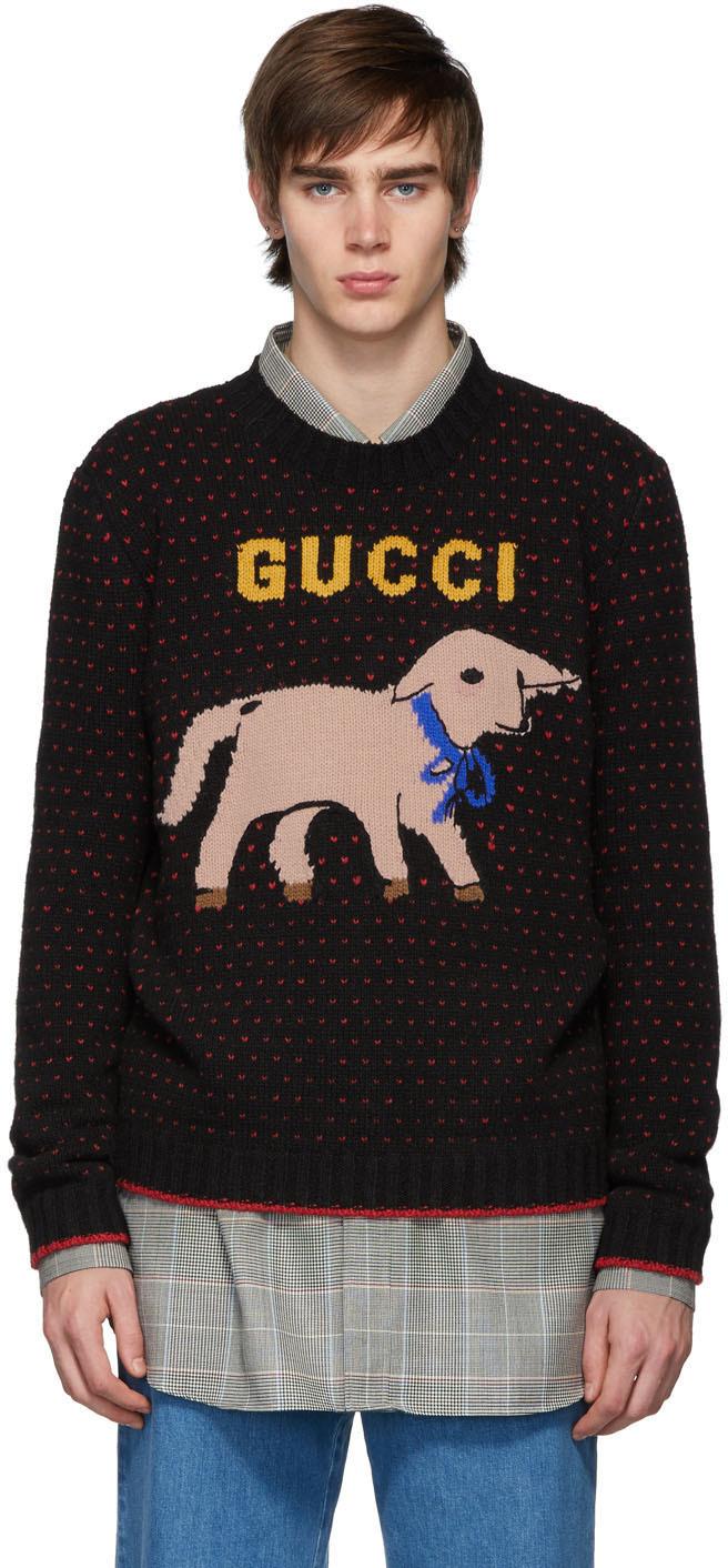 Gucci Black Wool Lamb Sweater