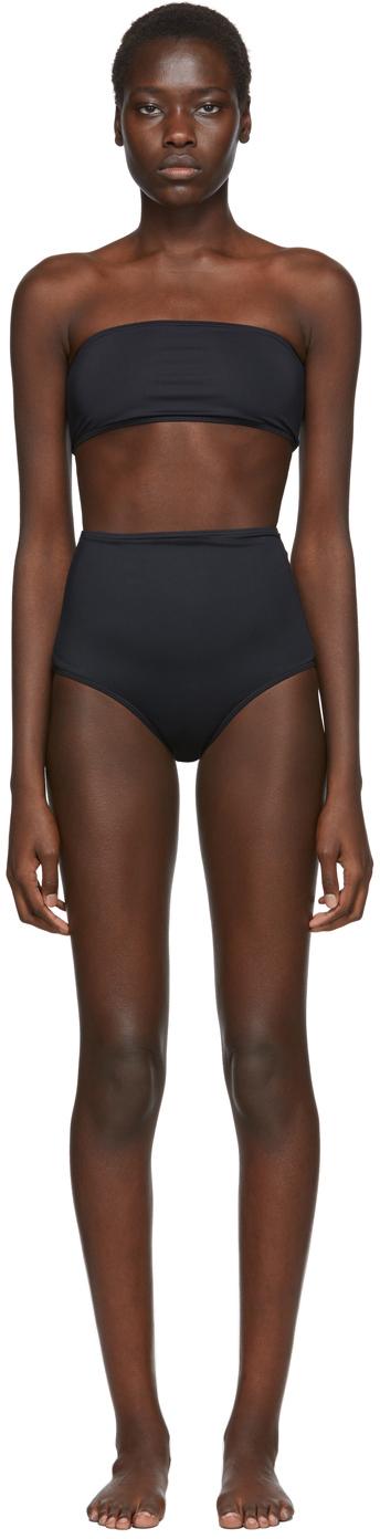 Rudi Gernreich Black Bandeau Bikini Top