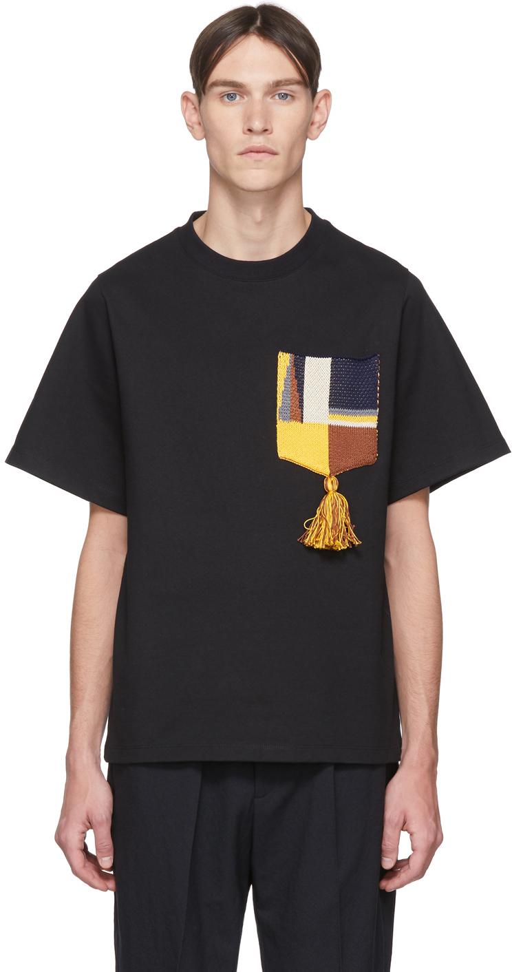 Jil Sander Black Pocket Tassel T-Shirt