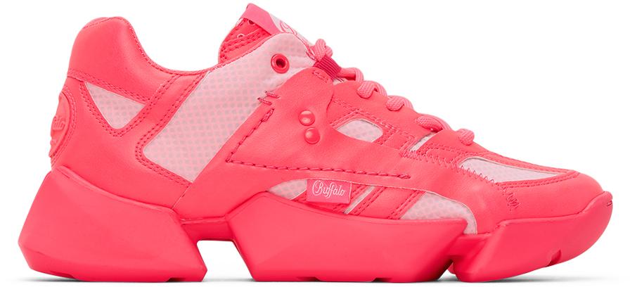 Junya Watanabe Pink Buffalo London Edition Synthetic Leather Sneakers