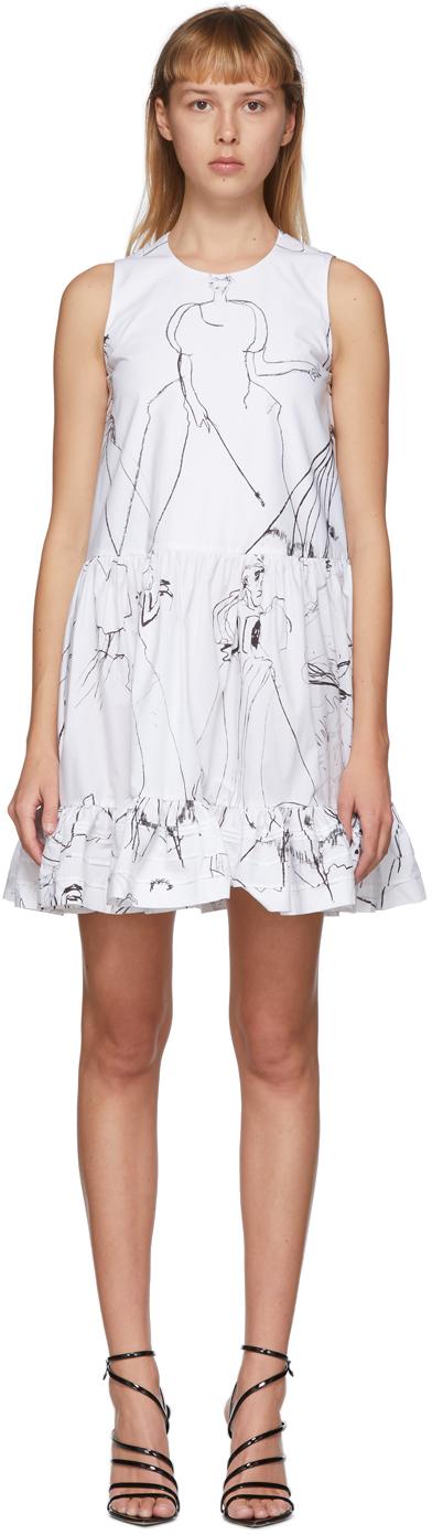 Alexander McQueen White Dancing Girls Dress