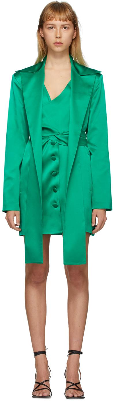 Matériel Tbilisi Green Silk Blazer Dress