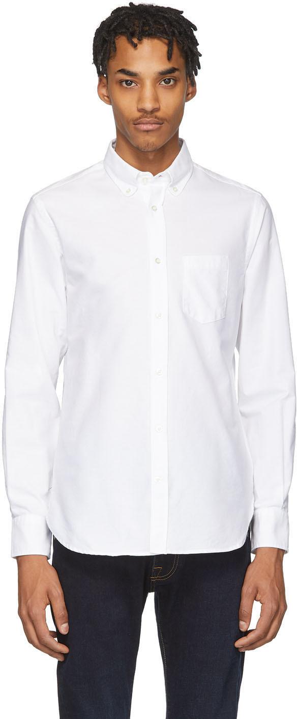 Officine Générale White Antime Oxford Shirt