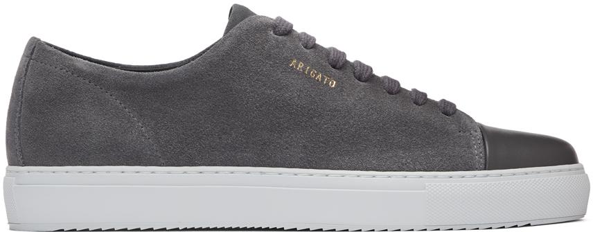 Axel Arigato Grey Suede Cap-Toe Sneakers