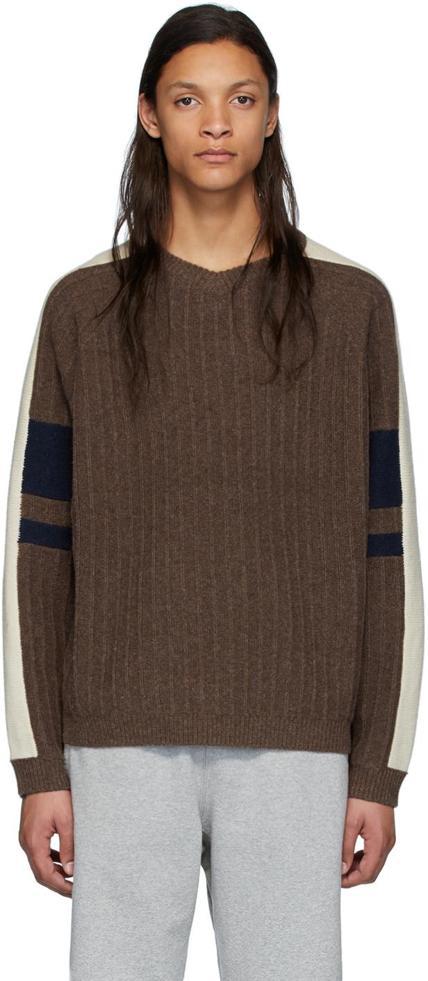GR-Uniforma Brown Graphic Rib Sweater