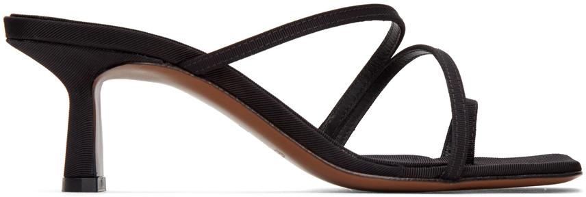 NEOUS Black Erandra 55MM Heeled Sandals