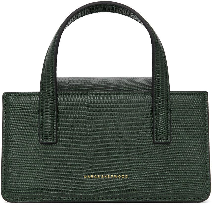 Marge Sherwood Green Lizard-Embossed Mini Grandma Bag