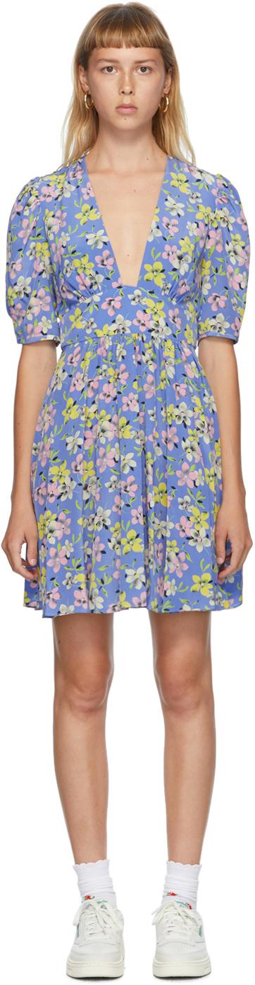 Les Reveries Blue Mini Gigi Dress